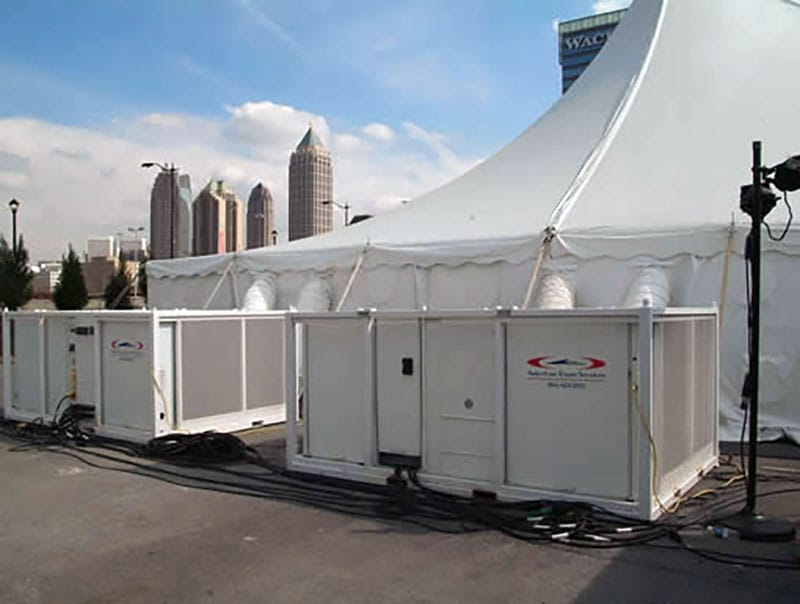 Renting a Large Tent for a Construction Job Site | American Pavilion