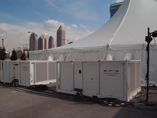 Construction Tents   American Pavilion