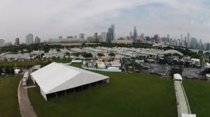 40 meter Losberger clear span rental tent, chicago concert series