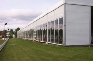 american pavilion glass sidewalls, rental glass walls, corporate entertaining clearspan tent