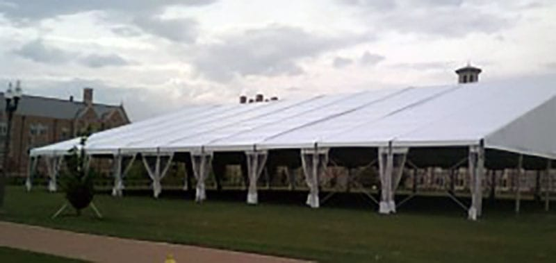 Frame Tent - tent rental for graduation party