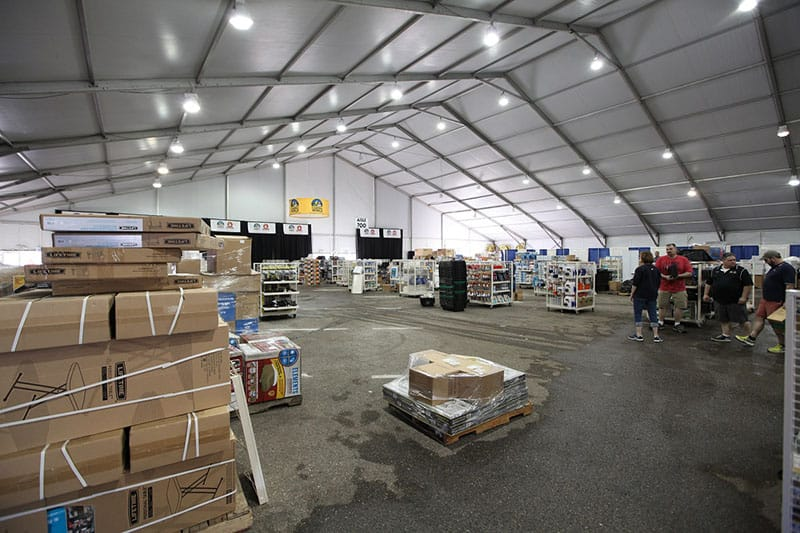 TEMPORARY WAREHOUSE TENT RENTAL | American Pavilion