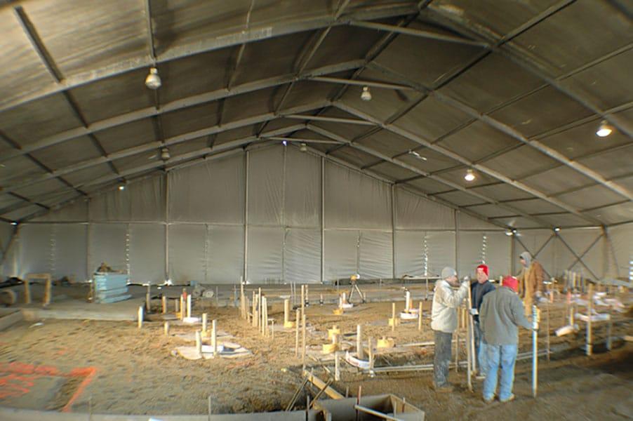 Temporary Building Structures Provide Enduring Refuge   American Pavilion