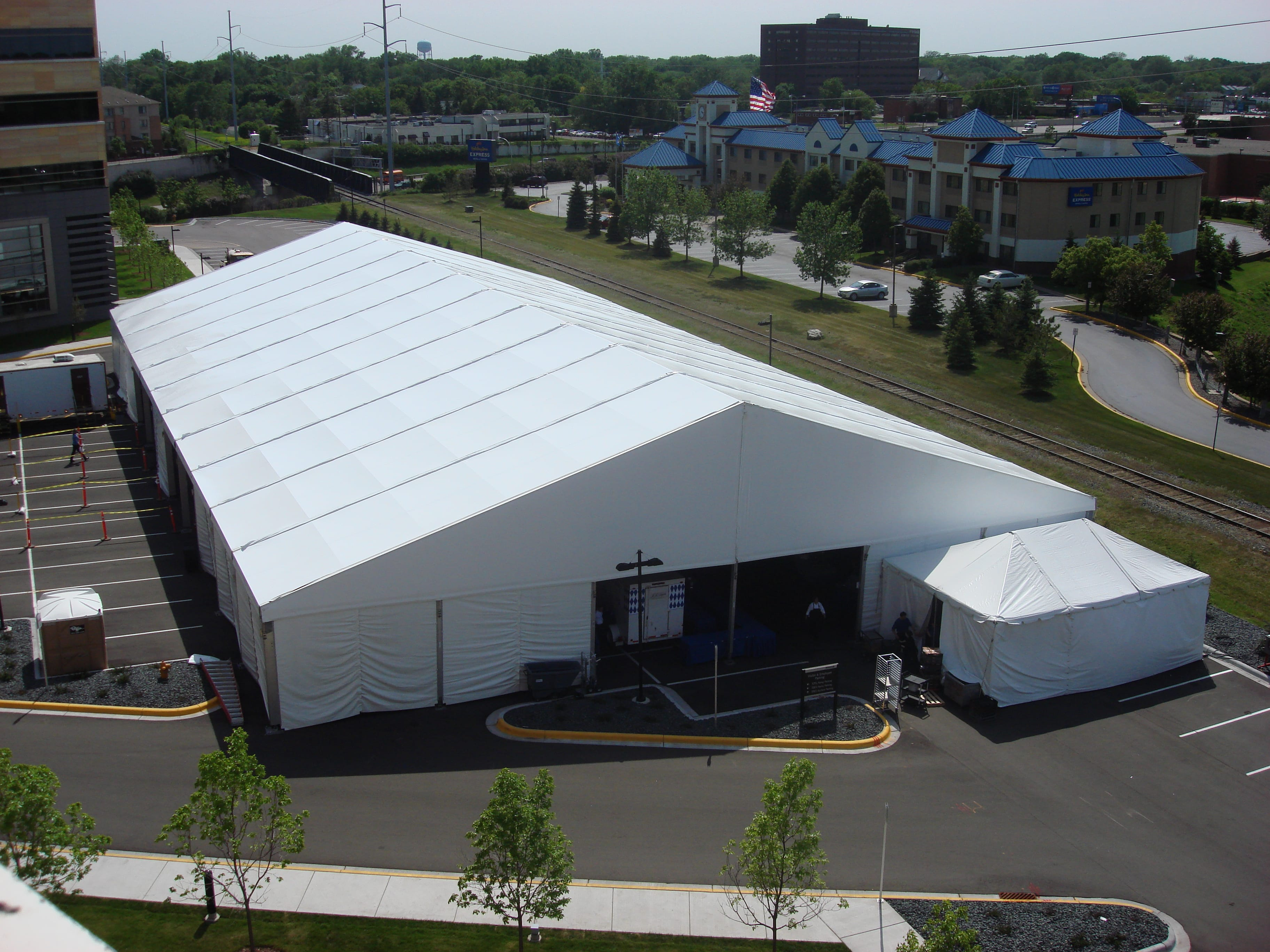 Temporary Construction Tents : Temporary storage structure for winter months american
