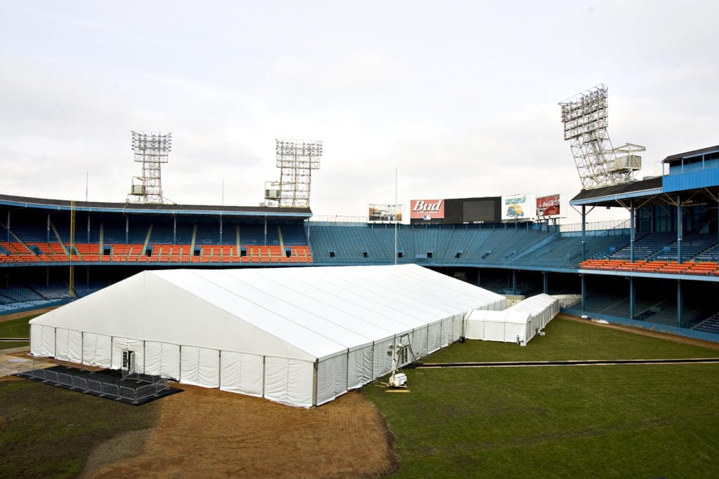 Bud Bowl Large Tent Rental At The Super Bowl | American Pavilion