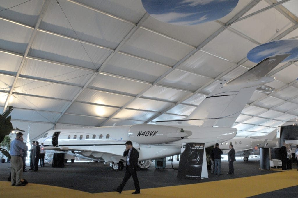 Clear Span Tent at Corporate Trade Show | American Pavilion